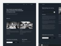 Podcast concept screens
