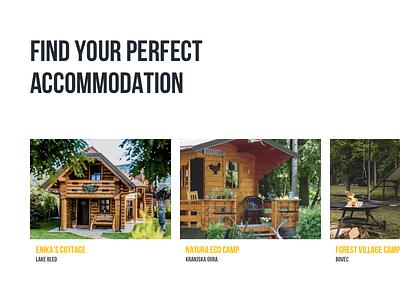 Slovenia Travel Site Concept #8 rental hotel travel booking colors grid box card ux ui website web