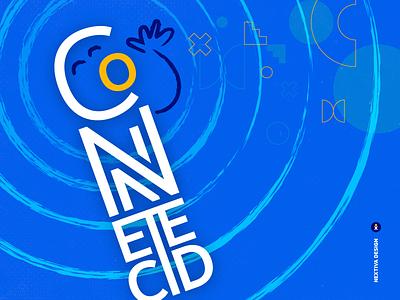 Nextiva | Connected typography illustration design