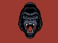 Gorilla WIP design t shirt design character design vector design illustration graphics gorilla