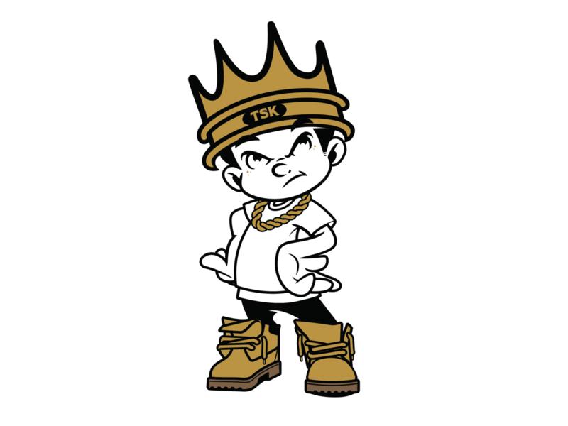 The Street Kings mascot pin design brooklyn designer vector t shirt design character design vector design illustration graphics