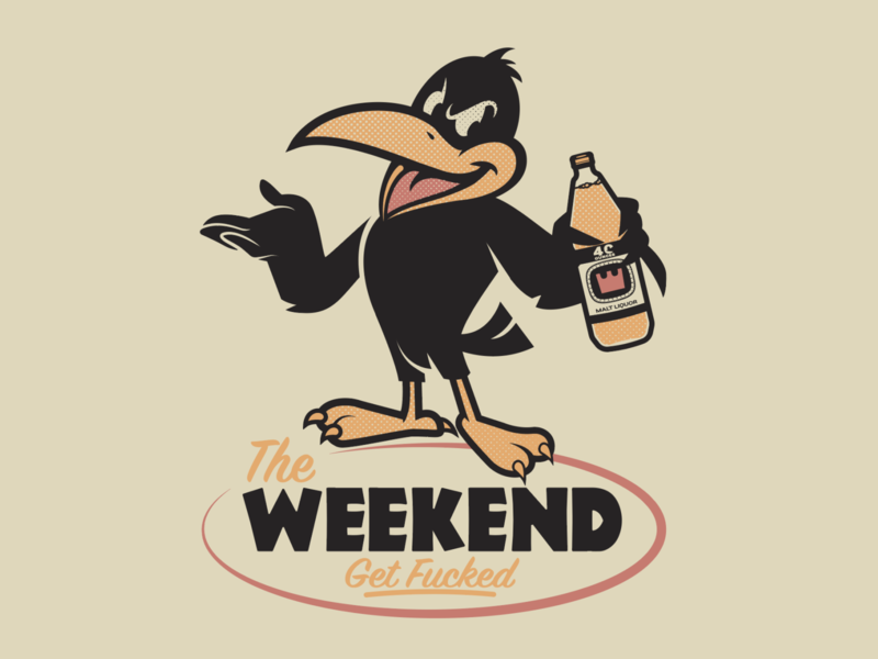 The Weekend! t shirt design brooklyn designer logo design vector character design vector design illustration graphics
