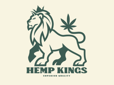 Hemp Kings logo design lion brooklyn designer t shirt design character design vector design illustration graphics