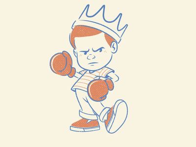 Knock out king sticker design brooklyn designer t-shirt design vector tee design t shirt design character design vector design illustration graphics
