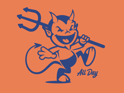 All Day mascot satan devil brooklyn designer t-shirt design t shirt design tee design character design vector design illustration graphics