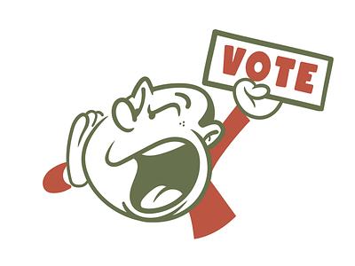 Vote brooklyn designer t shirt design sticker design character design tee design vector design illustration graphics