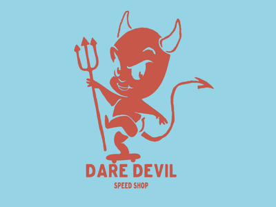 Dare Devil Speed Shop vector sticker design skateboarding brooklyn designer character design vector design illustration graphics