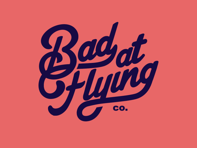 Bad At Flying vector brooklyn designer sticker design typedesign typeface logo type vector design illustration graphics