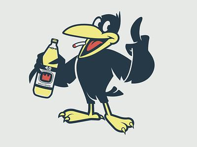 Crow crow pin design sticker design brooklyn designer t shirt design character design vector design illustration graphics