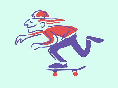 Push skateboarding brooklyn designer t shirt design character design vector design illustration graphics