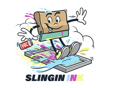 Slingin Ink design vector t shirt design tee design character design vector design illustration graphics