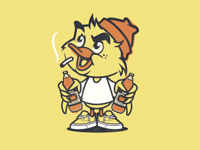 Weekend! duck t shirt design character design vector design illustration graphics