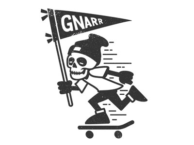 Gnarr  graphics illustration tee design