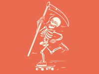 Skateboarding Skeleton