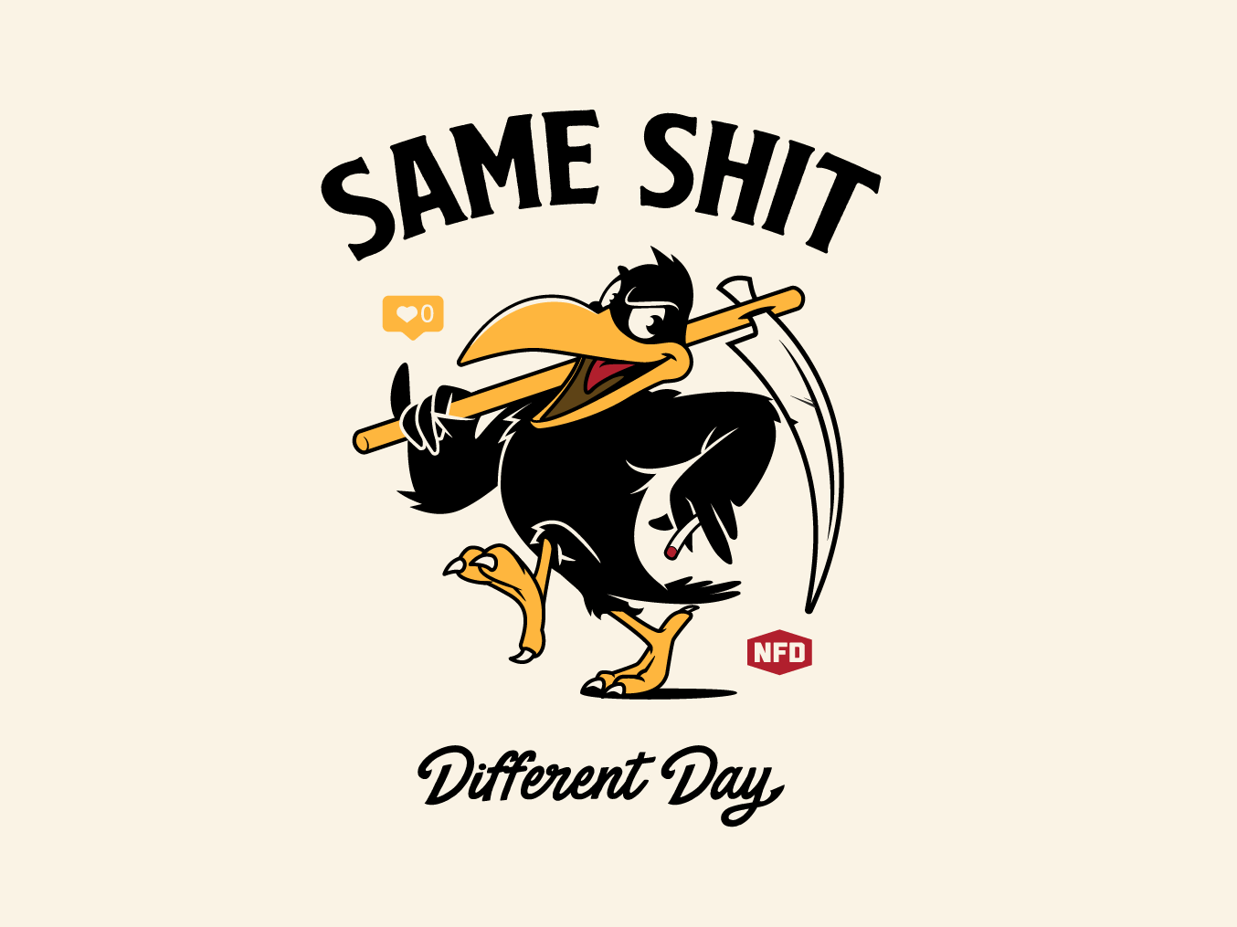 Same Shit t-shirt design illustration graphics vector design birds