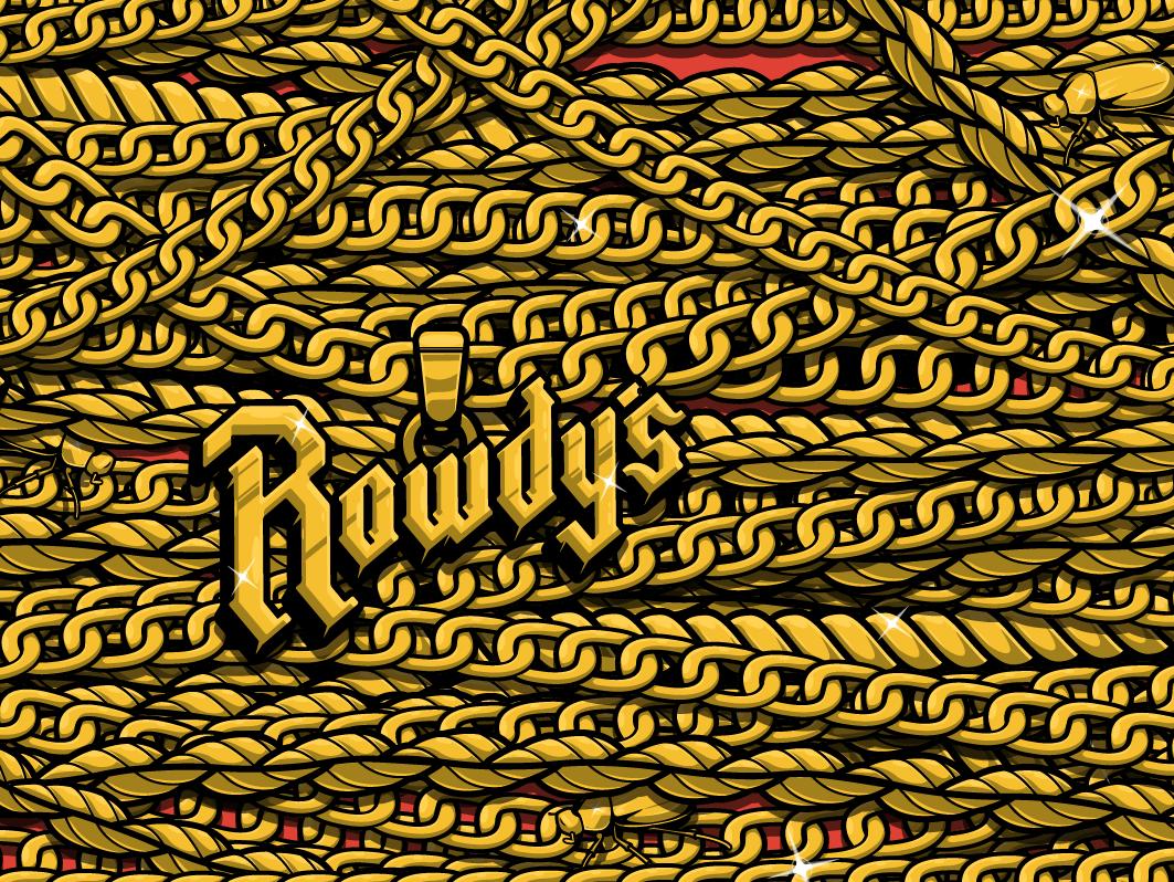 WIP brooklyn designer beer pkg beer t-shirt design vector design chains gold