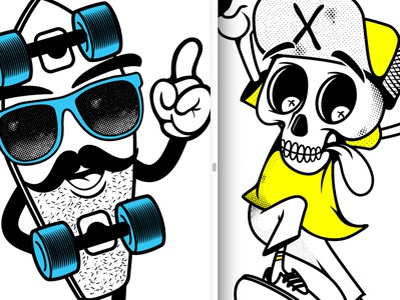 Sk8 Characters tee design charcater design illustration graphics