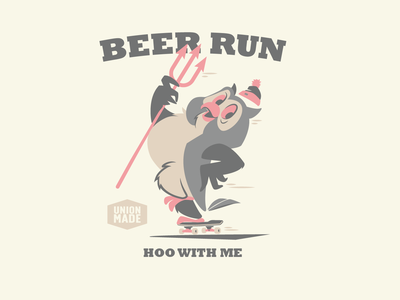 Beer Run! brooklyn design wise owl owl old dirty dermot skateboard