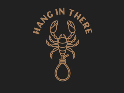 Hang in there sticker design tee design vector design illustration graphics