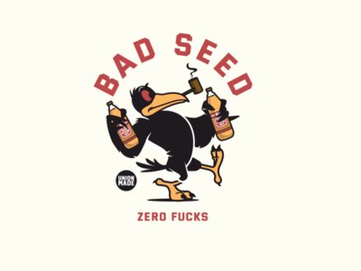 Bad Seed sticker design 40 oz crow birds animals t shirt design vector design illustration graphics