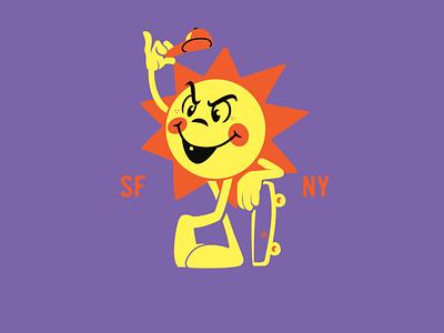 Sun Character brooklyn designer t shirt design character design vector design illustration graphics