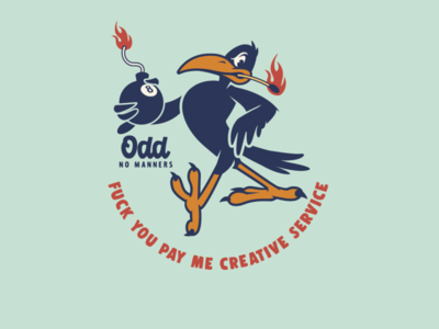 Odd crow pin design sticker design t-shirt design brooklyn designer character design t shirt design vector design illustration graphics