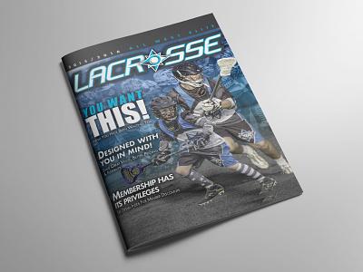 Magazine Layout layout lacrosse athletic brochure booklet cover magazine