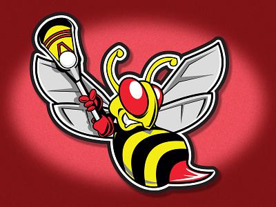 Hornet Logo team lacrosse sports branding logo