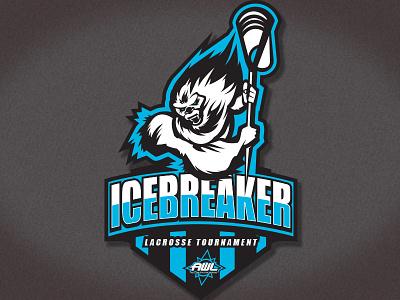 Logo Icebreaker A snowman yeti lax lacrosse bay area sports logo