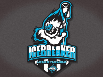 Logo Icebreaker B the  city sf san francisco bay area lax lacrosse tournament branding logo