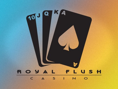 Royal Flush Casino Branding gaming vector royal flush cards casino logo branding