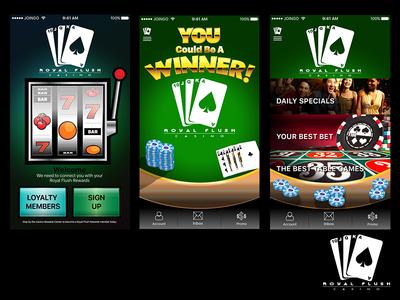 Casino Application Screens