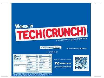 Women in Tech(Crunch) Package Design scaleup startup greylock techcrunch crunch design package vc