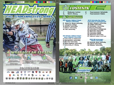 Event Booklet green lime university sports lacrosse direction design print brochure booklet program book