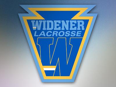 Logomark- Widener University Lacrosse collegiate university ncaa lax keystone logomark logo branding lacrosse