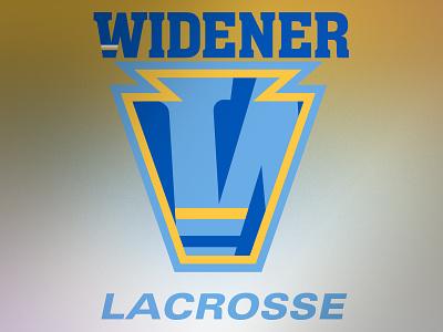 Widener University Lacrosse Alternative Logo branding logo chester pennsylvania pa university lax uniform lacrosse