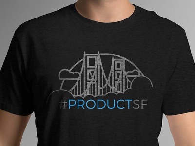 #productSF Golden Gate T-Shirt art tee apparel golden gate bridge golden gate ggb san francisco sf productsf product greylock vc