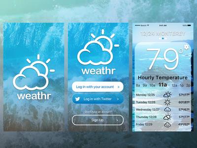 weather app onboard screens