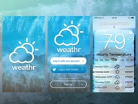 weather app onboard screens