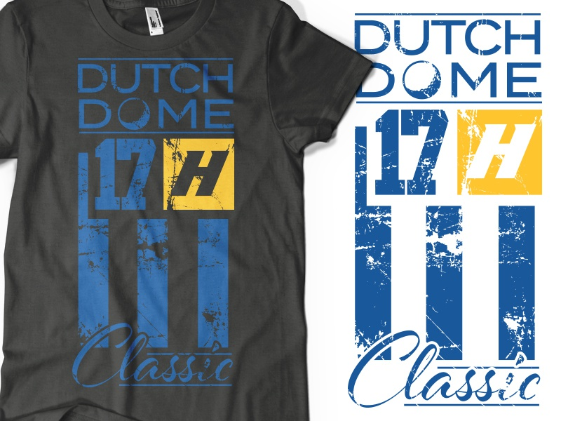 Dutch Dome Classic Branding Art classic art tee t-shirt long island hofstra distress sports lacrosse golf