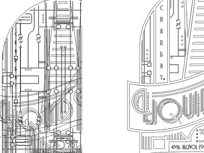 Label Outlines package label illustrator vectors outlines
