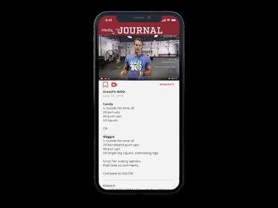 CrossFit Journal App Localization Feature