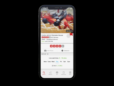 Yelp Collections Quick Add mobileapp mobile app animation favorites bookmark collections yelp