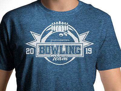 Bowling T-Shirt Art marketing sports greylock venture capital vc t-shirt merchandise bowling