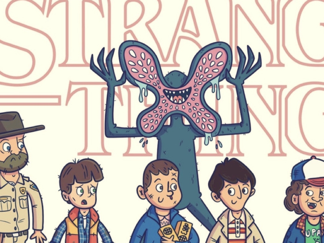Stranger Things Sticker Pack No. 1 | Promo vector kids illustration monsters movies colorful drawing doodle inktober subscription illustrator branding design art character slaptastick artwork stickers illustration netflix stranger things