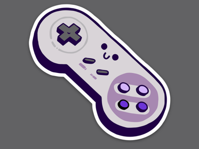 Which was better, the SNES or GameCube? controller videogames snes gamer character artwork subscription illustrator vector drawing slaptastick design illustration stickers