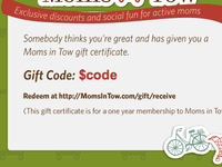 Gift Certificate Print View