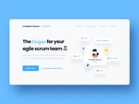 Designer Portfolio Hero download homepage clean simple minimal ux visual ui product designer demo cover app agile landing hero