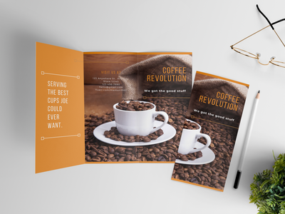 Coffee Revolution Brochure cafe brochure vector cafe brochure design brochure design for coffee shop coffee shop brochure menu coffee shop brochure template coffee shop brochure example coffee brochure design coffee brochure