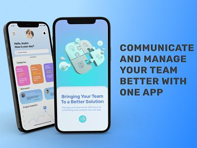 Team Project Management App 3d ui